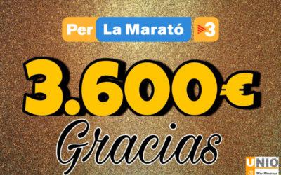 Recaptació final festival solidari La Unió per la Marató de TV3 2020