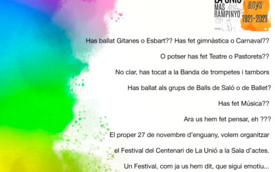 Festival del Centenari 100 Anys 100 Unió
